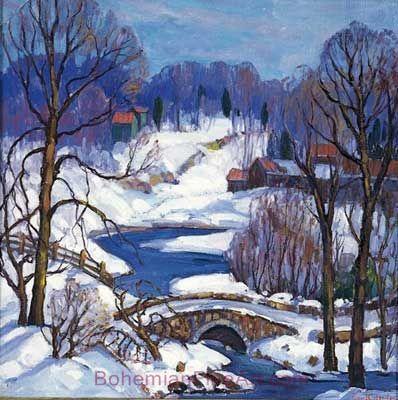 Fern I. Coppedge, Near New Hope Fine Art Reproduction Oil Painting