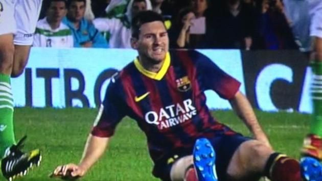 Liga - Messi in injury scare at Betis