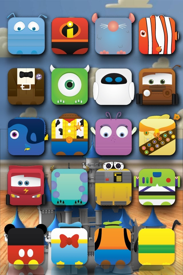 Pixar! Screen saver<3 Apps go on top and fit perfectly.