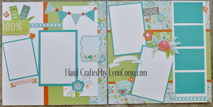 Blossom Kit of the Month can create cards and/or layouts are beautiful for the summer season! These are pages 5&6 and I love the colors and you can learn more here: http://lynncomo.com/5…/blossom-a-versatile-kit-of-the-month/