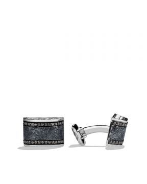 David Yurman Chevron Cuff Links with Black Diamonds - Kol Düğme, Siyah #davidyurman #davidyurmankoldugmesi #davidyurmanturkiye #askmoda #alisverisbirask #davidyurmanistanbul