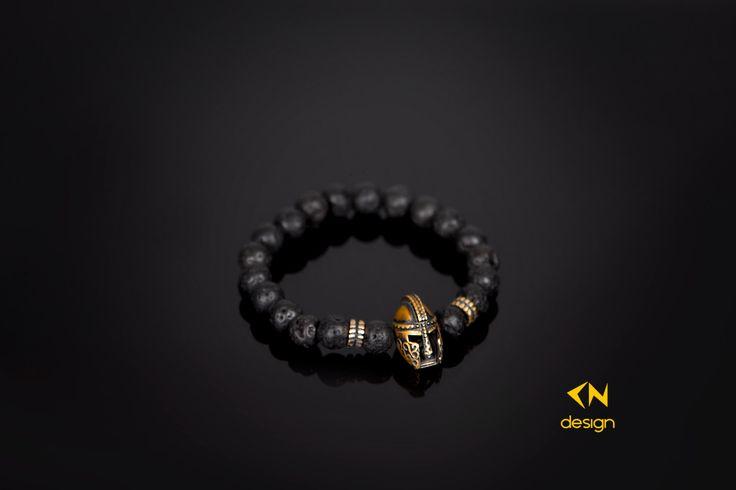 Bronze Warrior & Lava Stone Charm Bracelet by Cndesignofficial on Etsy https://www.etsy.com/listing/256885760/bronze-warrior-lava-stone-charm-bracelet