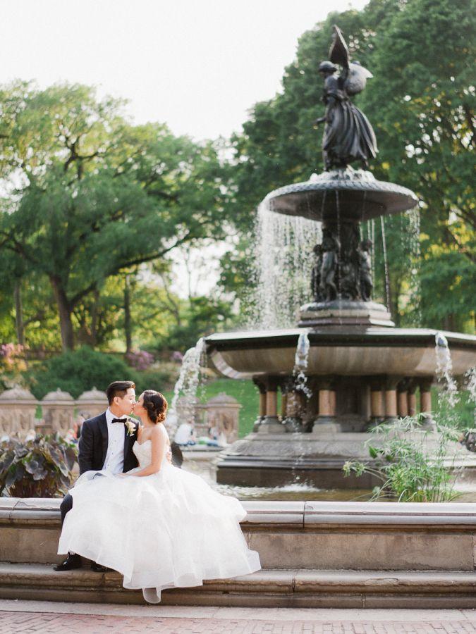 Classic central park wedding: http://www.stylemepretty.com/little-black-book-blog/2016/11/02/classic-central-park-boathouse-wedding-2/ Photography: Merari - http://merari.com/