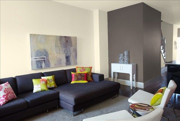 Elegant Crisp Contemporary Living Room! Wall U0026 Ceiling Color: Jute   Accent Wall  Color: