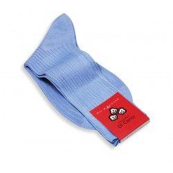 Chaussettes en fil d'Écosse Di Carlo bleu ciel