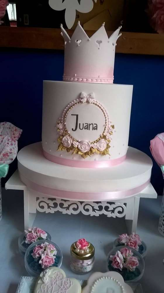 Amazing cake at a shabby chic birthday party! See more party ideas at CatchMyParty.com!