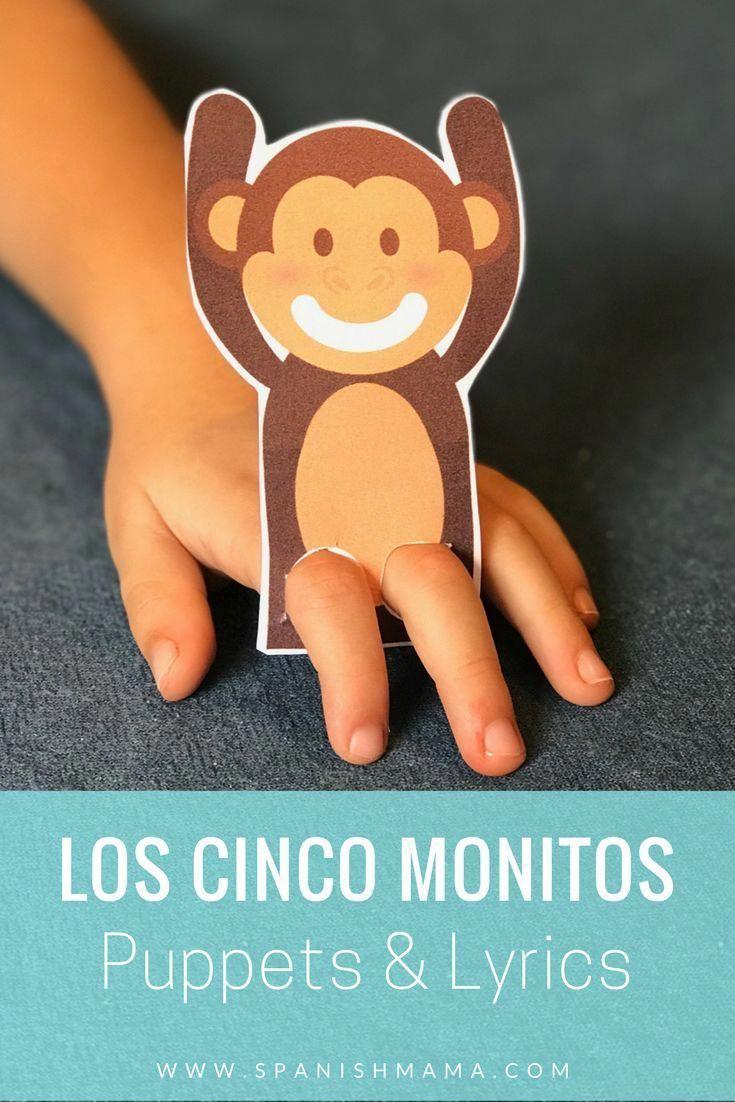 Cinco Monitos Song Lyrics And Free Printable Learning Spanish