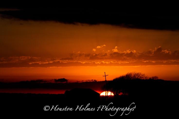 Austwell, Texas Area Sunset 1_24_2012