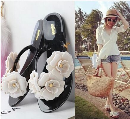 Casual Fashion Melissa Jelly Shoes Flat Heel Sandals Camellia Flip Flops Shoes Female Beach Cool Slippers Women Flip-Flops - http://www.freshinstyle.com/products/casual-fashion-melissa-jelly-shoes-flat-heel-sandals-camellia-flip-flops-shoes-female-beach-cool-slippers-women-flip-flops/