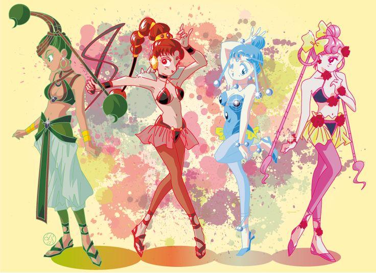 Sailor Moon Super S: Amazon Quartet by riccardobacci.deviantart.com on @DeviantArt