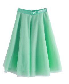 Soft Mesh Bubble Skirt