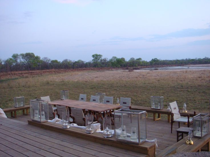 Zungilila Bush Camp, Dining deck. #LuxurySafari #LowerZembezi #Zambia
