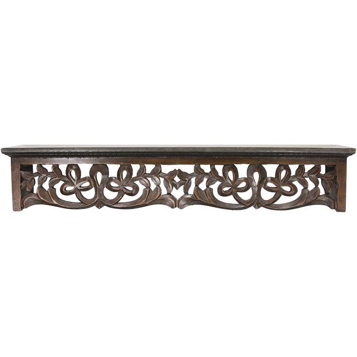 Fetco Home Decor Seth Decorative Wood Ledge