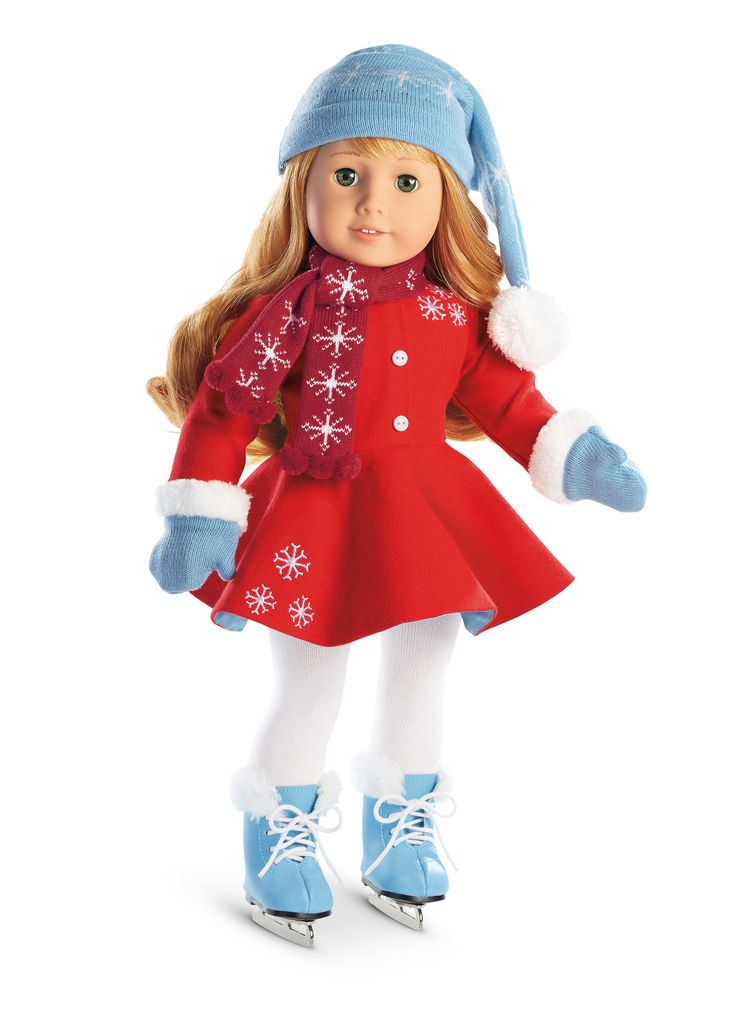 American Girl Maryellen's Ice Skating Outfit & Accessories