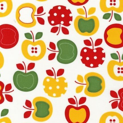 green and red apples clipart. vintage apple white by robert kaufmann fabrics green and red apples clipart
