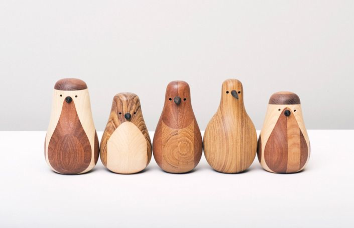 Every one of Lars Beller Fjetland's birds started life as a supportive table-leg or an armrest but now live as part of the Norweigen designer's flock of Re-Turned ornaments.