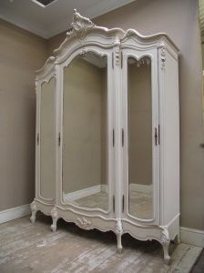 Rococo Style Antique French Furniture - STUNNING FRENCH ANTIQUE ROCOCO STYLE TRIPLE DOOR ARMOIRE - C1900