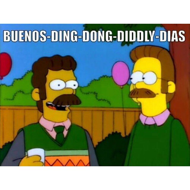 Open to watch the clip. The Simpsons Flanders #thesimpsons https://instagram.com/p/72KYkbTeYE/