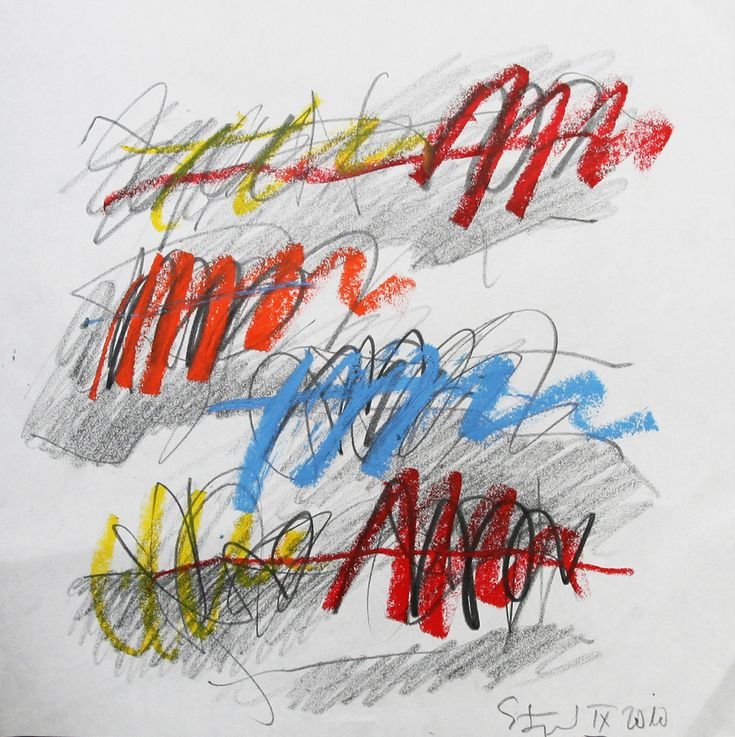Karl Stengel - untitled - oil pastel on paper - 2010