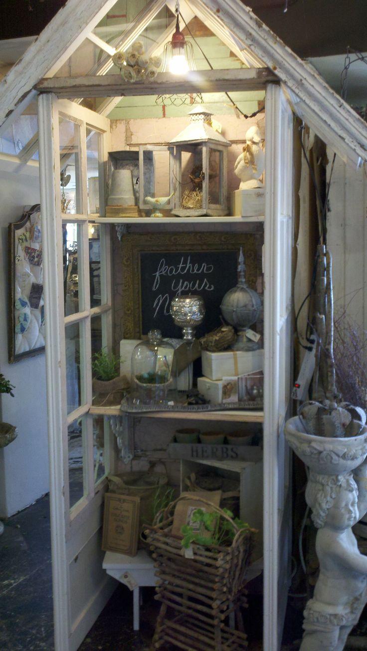 Old window garden merchandise display...