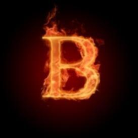 Burning Letter B