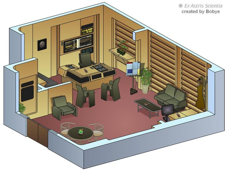 Star Trek Interior Drawings - NCC 1701-D by bobye2 on
