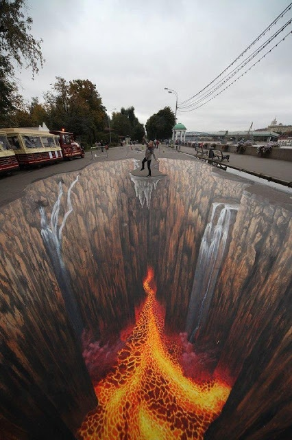 Amazing 3D Street Art of Edgar Mueller - illusionary street art