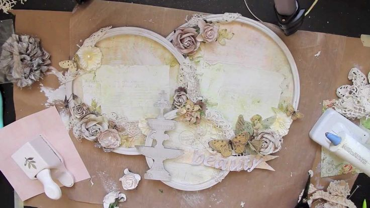 Shabby Chic Embroidery hoop Layout Tutorial