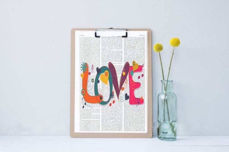 Love by secondprints on Etsy