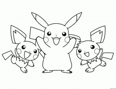 Pokemon Coloring Pages Pikachu And Frien