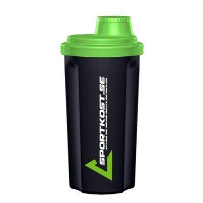 Sportkost shaker i snygg svart och grön färg! Rymmer 700 ml och tål diskmaskin! ✔Blixtsnabba leveranser 2-4 dagar ✔Fri frakt över 500 kr ✔Prisvärda kosttillskott