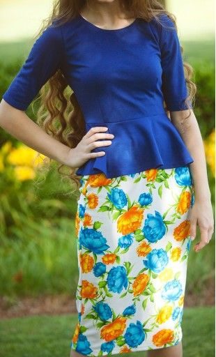 #Modest doesn't mean frumpy. #DressingWithDignity  peplum