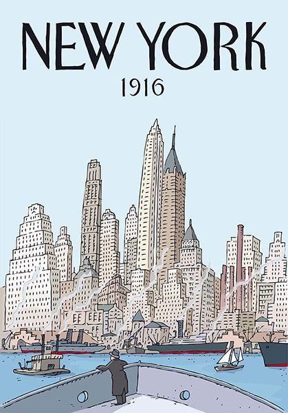 Cartel de la exposición «New York» de Jorge Arranz, edición de 50 ejemplares