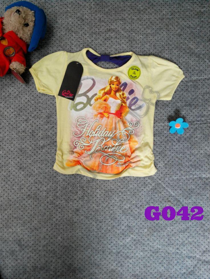 T-shirt Hello Kitty girl (G042) Kuning (glow in the dark)    Size 3-6 tahun    IDR 42.000