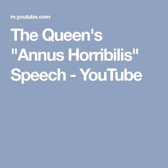 "The Queen's ""Annus Horribilis"" Speech - YouTube"