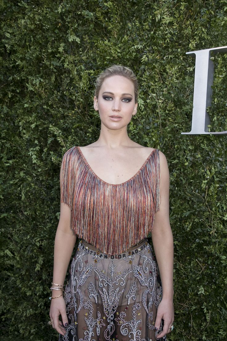 Jennifer Lawrence attends 'Christian Dior, couturier du reve' Exhibition Launch celebrating 70 years of creation at Musee Des Arts Decoratifs on July 3, 2017 in Paris, France.