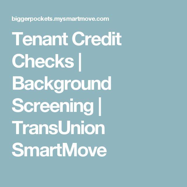 Tenant Credit Checks   Background Screening   TransUnion SmartMove