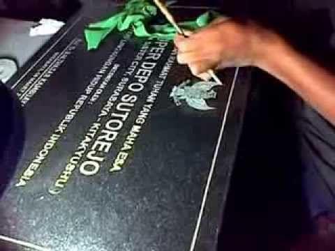 Jasa Pembuatan PapanNama dan Prasasti Mamer Granit - Telp. 03183315430 / 081357603030 / PinBB  2657B7A6 www.purnayagrafir.com