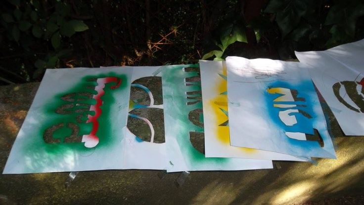 Mesk's workshop material  #Graffiti #Color #Colorful #StreetArt #Stencil #Design #Creative #Idea #Company #teamBuilding #Activity