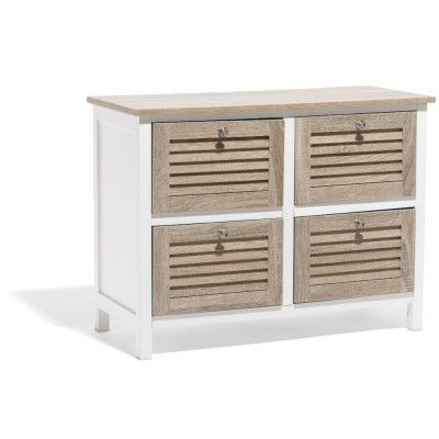 best commode u meuble rangement dco with malle en osier gifi