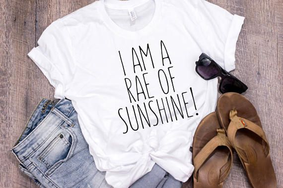 Rae Dunn Inspired Rae of Sunshine Tee Shirt Farmhouse Style Chic Shirts for Mama Bird Gifts for Mama Bear Trendy Mama Shirt Modern Mama by 25VintagePlace