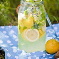Lemonad med citronmeliss