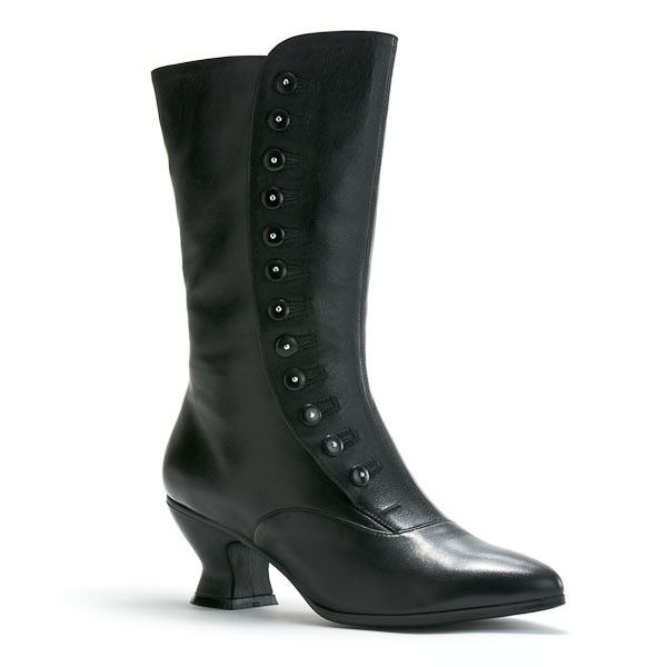 """""""Tavistock"""" Victorian Button Boot - American Duchess is finally making Victorian boots! And they look really comfy."""