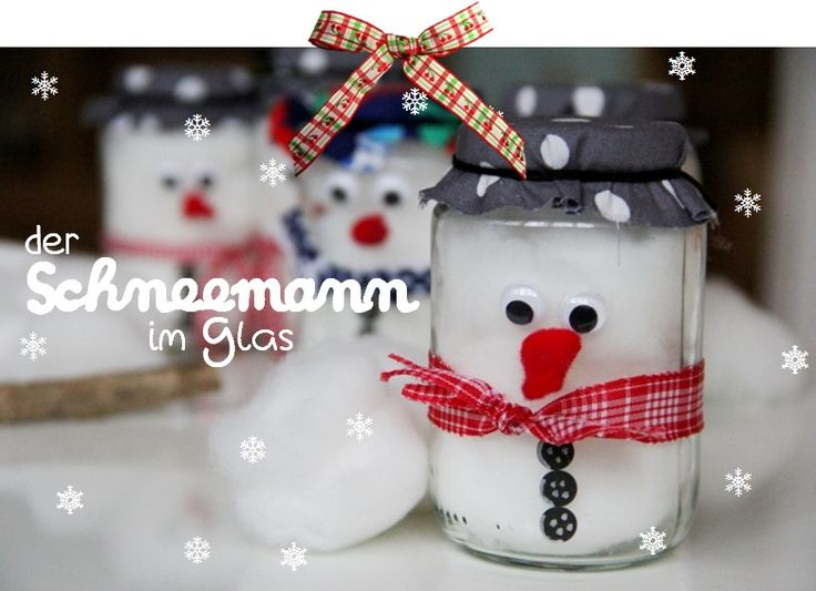 So einfach kann man einen Schneemann bauen - auch ohne Schnee! Sehr süße Idee!