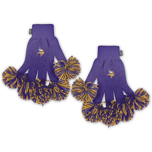 """These adorable """"Spirit Fingerz Gloves"""" are a great way to cheer on the Vikings and stay warm when the Vikings play at TCF Stadium."""