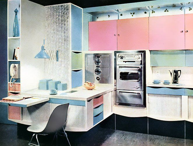 Pastel 1950's kitchen