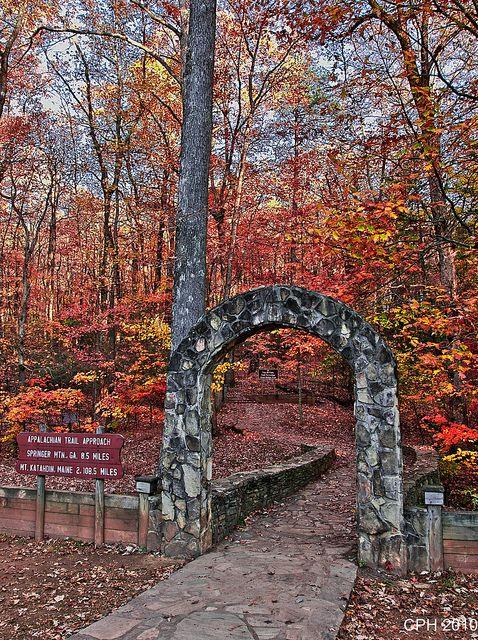 363) Amicalola Falls SP GA, Appalachian Trail approach - start point   Flickr - Photo Sharing!