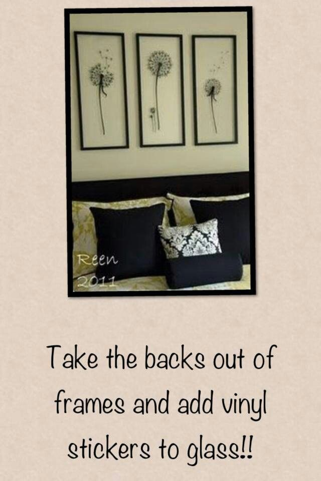 DIY wall decor....very cool and I just by chance ordered these decals!