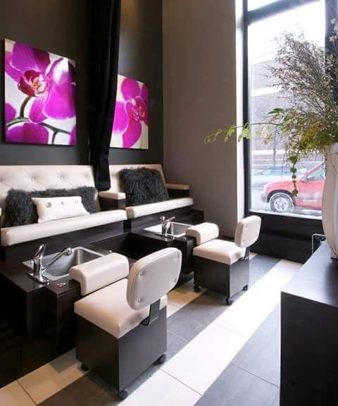 M s de 25 ideas incre bles sobre salones de belleza en for Ideas decorar pared salon