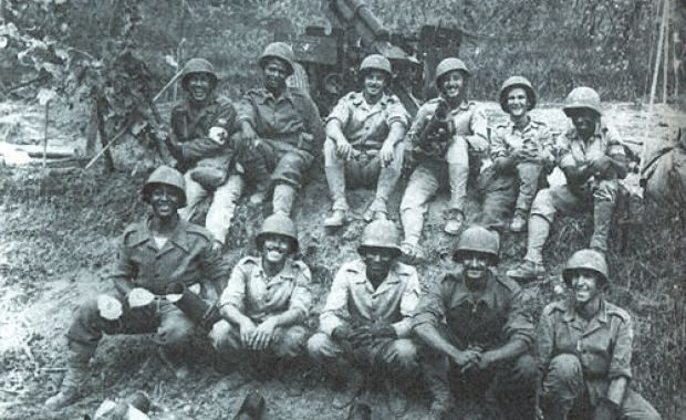 Brazilian soldiers after the conquer of Monte Castelo, Italy (1945)